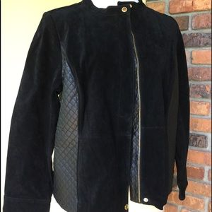 Isaac Mizrahi Live black suede jacket 20W